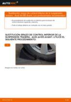 Cómo cambiar: brazo de control inferior de la suspensión trasera - Audi A4 B5 Avant | Guía de sustitución
