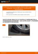 Come cambiare braccio di controllo inferiore della sospensione posteriore su Audi A4 B5 Avant - Guida alla sostituzione