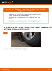 Wie der Wechsel durchführt wird: Radlager 1.9 TDI Audi A4 B5 Avant tauschen
