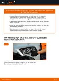 Wie der Ersatz vollführt wird: Bremsscheiben am AUDI A4