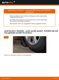 Wie der Wechsel durchführt wird: Federn 1.9 TDI Audi A4 B5 Avant tauschen