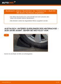 Wie der Wechsel durchführt wird: Querlenker 1.9 TDI Audi A4 B5 Avant tauschen