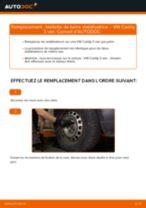 Comment changer : biellette de barre stabilisatrice avant sur VW Caddy 3 van - Guide de remplacement