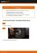 Lær hvordan skifter Stabstag bag og foran på VW - gratis instruktionsbog