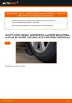 Cómo cambiar: brazo superior de la parte delantera - Audi A4 B5 Avant | Guía de sustitución