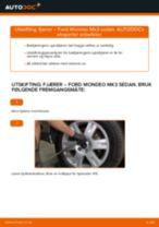 Slik bytter du fjærer bak på en Ford Mondeo Mk3 sedan – veiledning