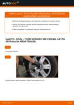 Kuinka vaihtaa jousi taakse Ford Mondeo Mk3 sedan-autoon – vaihto-ohje