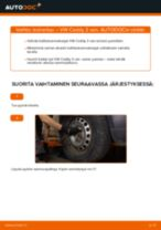 VW CADDY Koiranluu vaihto: ohjekirja