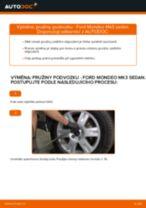 Jak vyměnit zadní pružiny podvozku na Ford Mondeo Mk3 sedan – návod k výměně