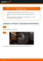 Zamenjavo Koncnik VW CADDY: navodila za uporabo
