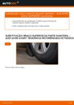 Como mudar braço superior da parte dianteira em Audi A4 B5 Avant - guia de substituição