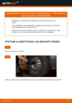 Como mudar e ajustar Pendural da barra estabilizadora VW CADDY: tutorial pdf