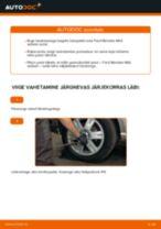 Kuidas vahetada Ford Mondeo Mk3 sedaan taga-rattalaagri – õpetus