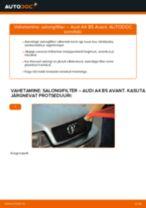 AUDI Salongi õhufilter vahetamine DIY - online käsiraamatute pdf
