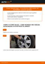 Hátsó futómű rugó-csere Ford Mondeo Mk3 sedan gépkocsin – Útmutató