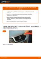 Pollenszűrő-csere Audi A4 B5 Avant gépkocsin – Útmutató