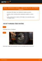 Kā nomainīt un noregulēt Savienotājstienis VW CADDY: pdf ceļvedis