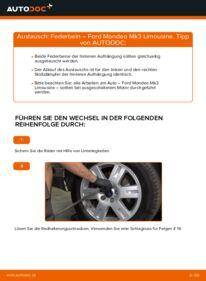 Wie der Wechsel durchführt wird: Stoßdämpfer 2.0 TDCi Ford Mondeo mk3 Limousine tauschen