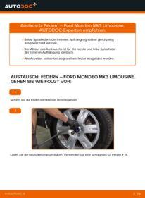 Wie der Wechsel durchführt wird: Federn 2.0 TDCi Ford Mondeo mk3 Limousine tauschen