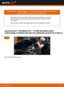 Wie der Wechsel durchführt wird: Thermostat 2.0 TDCi Ford Mondeo mk3 Limousine tauschen
