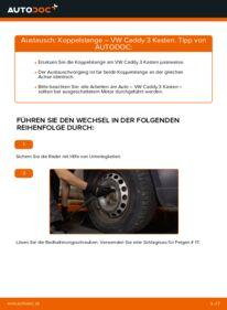 Wie der Wechsel durchführt wird: Koppelstange 1.9 TDI VW Caddy 3 kasten tauschen