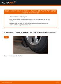 How to carry out replacement: Track Rod End on 1.9 TDI Audi A4 B5 Avant