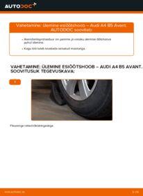 Kuidas välja vahetamist läbi viia: 1.9 TDI Audi A4 B5 Avant Õõtshoob