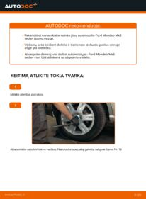 Kaip atlikti keitimą: 2.0 TDCi Ford Mondeo mk3 Sedanas Rato guolis
