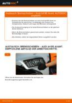 Reparatur- und Wartungsanleitung für Audi 100 C1 Limousine