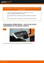 Hoe remblokken vooraan vervangen bij een Audi A4 B5 Avant – Leidraad voor bij het vervangen