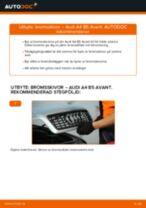 Byta bromsskivor fram på Audi A4 B5 Avant – utbytesguide