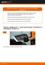 Kuinka vaihtaa jarrulevyt eteen Audi A4 B5 Avant-autoon – vaihto-ohje
