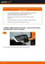 AUDI A4 Avant (8D5, B5) výměna Brzdovy kotouc přední a zadní: návody pdf