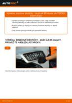 Jak vyměnit a regulovat Třmen brzdy AUDI A4: průvodce pdf