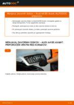 DIY-priročnik za zamenjavo Zavorni kolut v AUDI A4