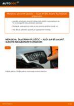 Kako zamenjati zadaj in spredaj Zavorne Ploščice AUDI A4 Avant (8D5, B5) - vodič spletu