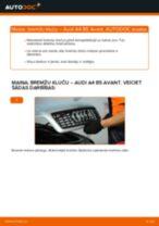Bremžu uzlikas maiņa: pdf instrukcijas AUDI A4