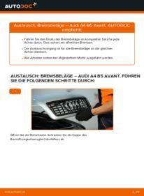 Wie der Wechsel durchführt wird: Bremsbeläge 1.9 TDI Audi A4 B5 Avant tauschen