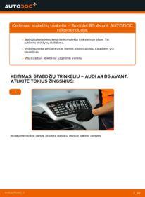 Kaip atlikti keitimą: 1.9 TDI Audi A4 B5 Avant Stabdžių Kaladėlės