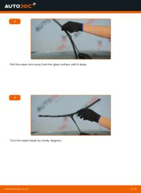 How to carry out replacement: Wiper Blades on 1.6 (L35) Astra H Caravan