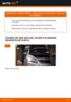 Wie Opel Astra H Caravan Kraftstofffilter wechseln - Anleitung