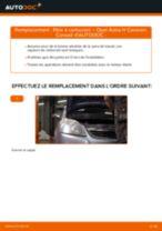 Comment changer et régler Filtre à Carburant OPEL ASTRA : tutoriel pdf