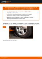 Comment changer : jambe de suspension avant sur Opel Astra H Caravan - Guide de remplacement