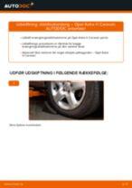 Automekaniker anbefalinger for udskiftning af OPEL Opel Astra g f48 1.6 (F08, F48) Tårnleje