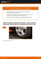 Come cambiare cuscinetto ruota della parte anteriore su Opel Astra H Caravan - Guida alla sostituzione