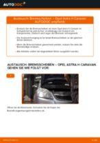Wie Opel Astra H Caravan Bremsscheiben vorne wechseln - Anleitung