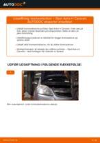Udskift bremseklodser for - Opel Astra H Caravan | Brugeranvisning