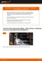 Cómo cambiar: discos de freno de la parte delantera - Opel Astra H Caravan | Guía de sustitución