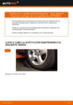 Cómo cambiar: copelas del amortiguador de la parte delantera - Opel Astra H Caravan | Guía de sustitución