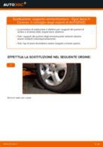 Come cambiare supporto ammortizzatore della parte anteriore su Opel Astra H Caravan - Guida alla sostituzione